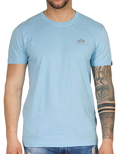 ALPHA INDUSTRIES Herren T-Shirts Basic Small Logo blau L