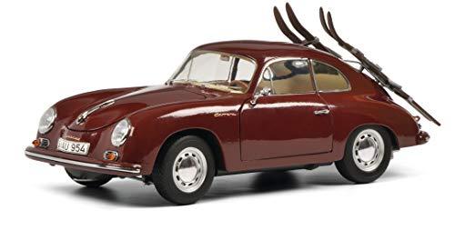 Schuco Porsche 356A, Vacanza sciistica, coupé con Portapacchi e Sci, Modello Auto, Edizione Limitata 1000, Scala 1:18, Vinaccia, 450030000