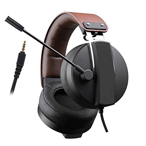 Gaming Headset Best 3.5mm Gamer Stereo Headphones with Microphone for Xbox One Laptop Computer, Black