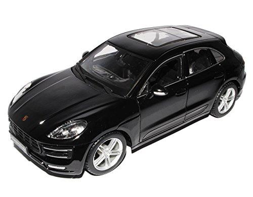 Bburago Porsche Macan Turbo Schwarz Ab 2014 1/24 Modell Auto mit individiuellem Wunschkennzeichen