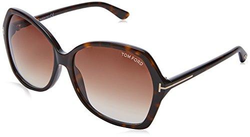 Tom Ford Damen FT0328 52F 60 Sonnenbrille, Braun (Avana Scura/Marrone Grad)