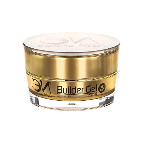 Builder Gel Rose UV/Led 15ml para uñas de gel | Ultra resistente y fácil de aplicar | Economic Nails