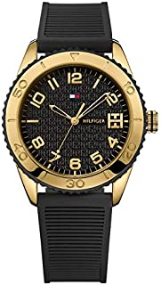Tommy Hilfiger Sport Women's Black Dial Silicone Band Watch - 1781120