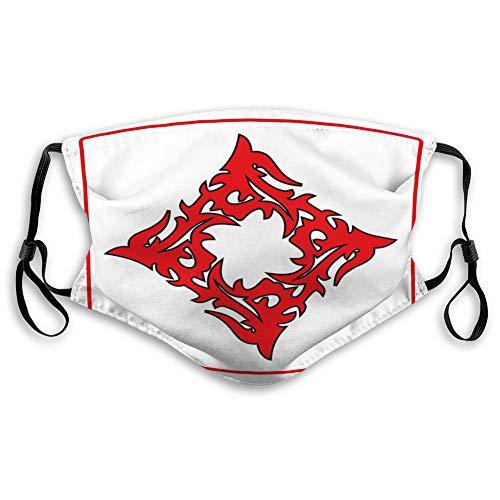 Na Unisex Masken Waschbar Wiederverwendbare Mundmaske Flamme Tribal Style Illustation Modern Style Flaming Symbol Label Aufkleber bereit Vinyl