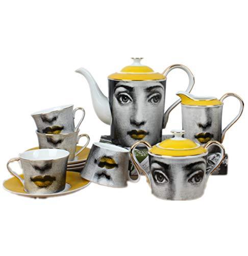 MISHUAI Thee set koffie kopje set middag theekop cadeau Louisa gele koffie set