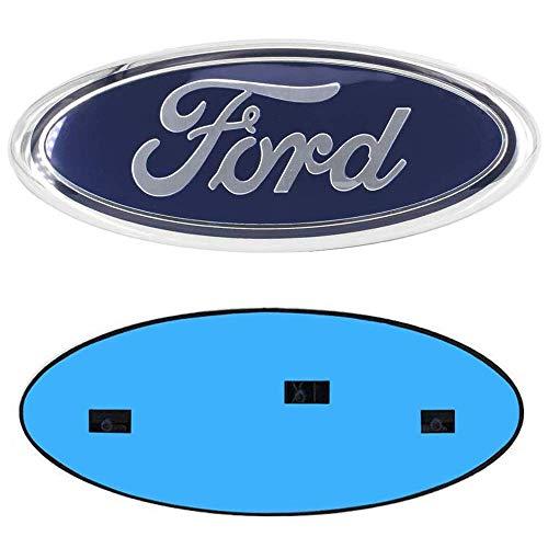 F150 Front Grille Emblem,Tailgate Emblem Oval 9'X3.5' Decal Badge Nameplate Fits for 04-14 F250 F350, 11-14 Edge, 11-16 Explorer, 06-11 Ranger (blue)
