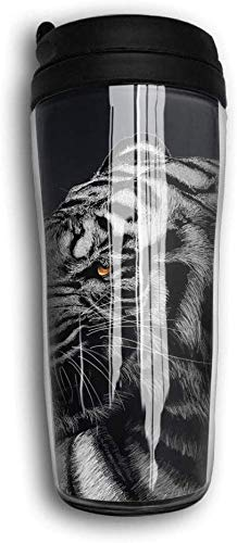 NR Cool Tiger Curve Traveler Coffee Mug Bouteilles d'eau Double Wall Coffee Cup for Man