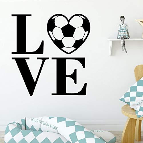 wZUN Dibujos Animados Amor Fútbol Pegatinas de Pared Decoración Sala de Estar Dormitorio Muebles para niños Decoración de la habitación Arte de la Pared 36x37cm
