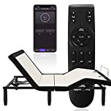 Applied Sleep Adjustable Bed Frame Base(Full Size) with Bluetooth Compatible with App,Wireless Remote,Under Lighting, Dual USB Ports,Head and Foot Incline,Anti Snore,Massage and Easy Assembly