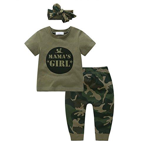 Shiningup Baby-Pyjama-Set Boy Girl Camouflage Kleidung Set Mama's Boy Mama Mädchen Mode Outfit für 6 Monate bis 4 Jahre alt