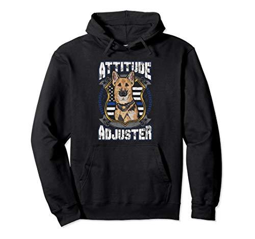 Police Dog K9 Hoodie Sweatshirt Thin Blue Line Flag Gift