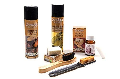 Prestige set compleet met product speciaal voor het reinigen van schuifdeuren van camouflage en NABUK