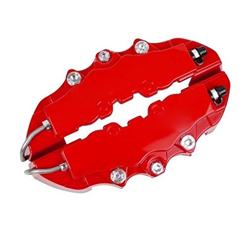 TwoCC 4 piezas 3D rojo coche Universal freno de disco pinza cubre kit de accesorios delantero y trasero