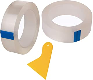 TOOHUI 2個 防水 コーナーテープ 隙間シート 補修テープ キッチン 浴室 台所コーナーテープ 自己接着性の防水柔軟なシールテープ 隙間テープ 防カビ コーナーテープ 幅30mm*長さ5m 透明な