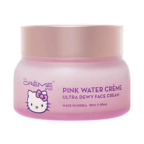 The Crème Shop x Hello Kitty - Pink Water Face Cream, Replenishing, Moisturizing, Antioxidant, Fine Lines & Wrinkles, Glowing Complexion - Korean Skin Care Moisturizer with Hyaluronic Acid, Watermelon