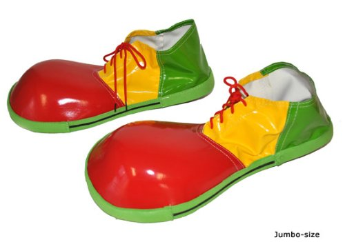 Karabu Chaussures de clown, clown de cirque jumbo de vinyle dÃguisement mesure