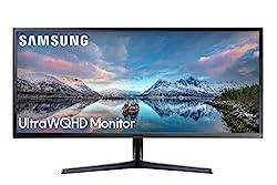 powerful Samsung SJ55W 34 inch Ultra Wide Gaming Monitor (LS34J550WQNXZA) – 75 Hz upgrade, WQHD computer…