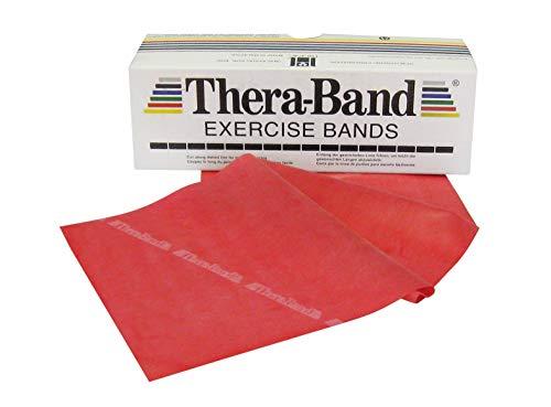 Thera-Band, Fascia elastica per esercizi, Medio/Rosso, 5,50 m