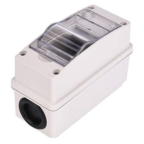 Fafeicy Caja Distribucion Electrica, caja de instrumentos de distribución de plástico, Protección IP33 con cubierta transparente, con 4 tornillos