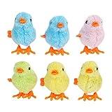 Amosfun 6 piezas de juguete con mecanismo de pollo, juguete de peluche, sin alas, pollito para...