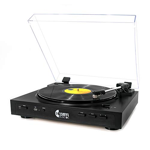 VINYL MUSIC ON Fully Automatic USB Belt-Drive Stereo Turntable for 33-1/3...