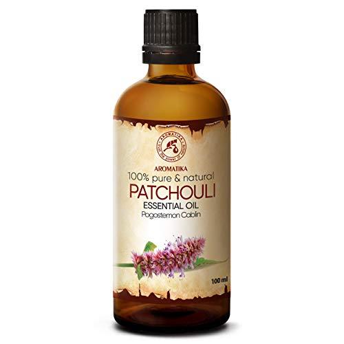 Olio Essenziale di Patchouli 100ml - Pogostemon Cablin - Olio Essenziale Puro e Naturale di Patchouli - Cura del Corpo - Benessere - Massaggio - Diffusore