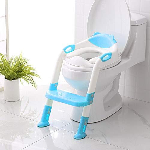 iBellete 2019 neu Toiletten-Trainer, Töpfchen Kinder, Toilettensitz mit Leiter Töpfchen Sitz mit Treppe. (mit Geschenk)