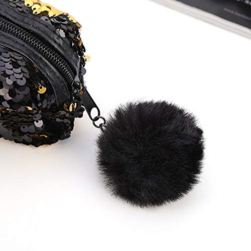 Climberty Fashion Sequin Hairball Pencil Case School Supplies BTS Stationery Gift Cute Pencil Box Pencilcase School Tools Pencil Cases (Style 2)