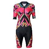 Yajun Verano Ciclismo Maillot Triatlón Skinsuit Al Aire Libre Womens MTB Mono Set Ropa De Carrera De Bicicleta para Correr Natación,B,XL(176CM)