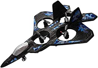 ZHANGL Remote Control Plane, EPP Airplane Jet with 6-axis Stabilizer System, One-click rollover, with LED Light, Great Gif...