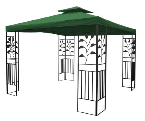 Gartenpavillon 3x3m Pavillon Toscana Pavillion grün