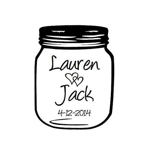 Mason Jar Wedding Stamp, DIY Wedding Stamp, Mason Jar Stamp for Making Your Favor Tags, Wedding Decoration etc., Can Be Customized