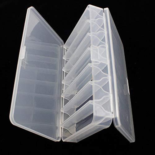 Scatola da Pesca,2pcs Scatole di Plastica da Pesca Attrezzatura da Pesca a Doppia Trasparente Faccia Scatola Gancio Bait Custodia Contenitore Box-Pesca con 14 Scomparti per Kit Accessori da Pesca