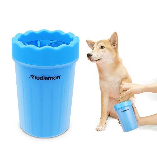 RedLemon Limpiador para Patas de Perro, Fabricado con Suaves Cerdas de Silicón, Portátil e Ideal para Paseos y Viajes con tu Mascota (Grande)