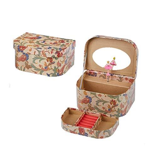SHYPT Caja de música Floral Caja de Regalo Hecha a Mano Caja Novia Regalo de cumpleaños Caja de música de Navidad