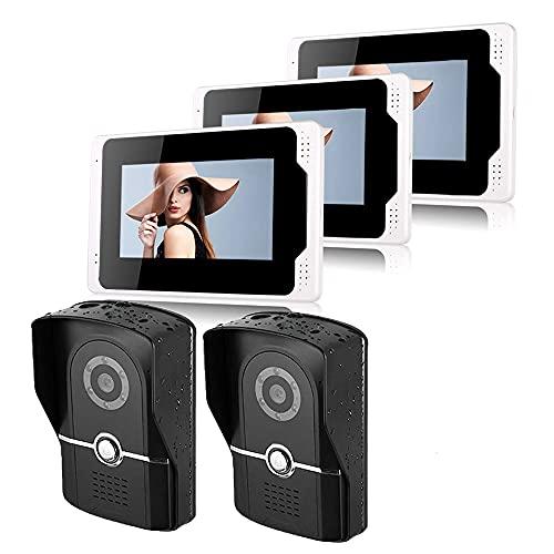 OUYA Videollamadas Inteligentes Pantalla Táctil De 7', Videoportero HD 1080P, Fácil Instalación, para El Hogar, La Oficina Y El Apartamento,701fg23