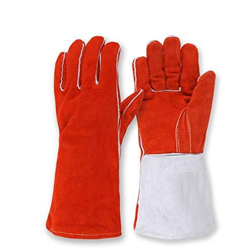 QETT Hitzebeständige Schutzhandschuhe, multifunktionale 36cm Hochtemperatur-Schweißhandschuhe für den Mikrowellenofen