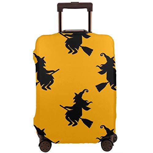 Cubierta Protectora de la Maleta Fondo Creativo del Vector con Cat Whitch Protector de Maleta de Viaje de Halloween XL