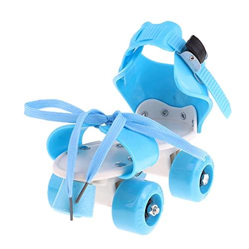Hellery 4 Räder Rollschuhe Zweireihige Gleitschuhe Spielzeug Für Jungen Mädchen - Blau, M
