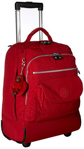 Kipling Sanaa Solid Rolling Backpack Backpack, cherry