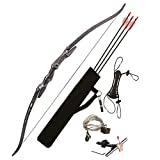 PSE ARCHERY Pro Max Takedown 62' Recurve Bow Package Set For Adults, Youth & Beginners- Draw 25LB Pull- Adjustable Sight & More