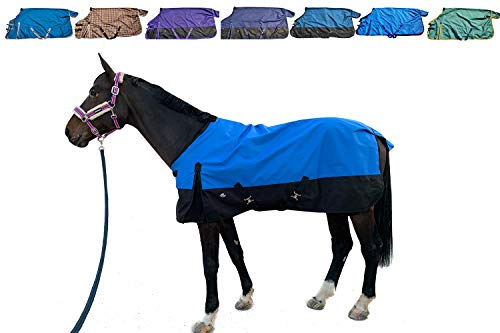 "TGW RIDING 1200Denier Waterproof and Breathable Horse Sheet Horse Blanket (74"", Purple)"