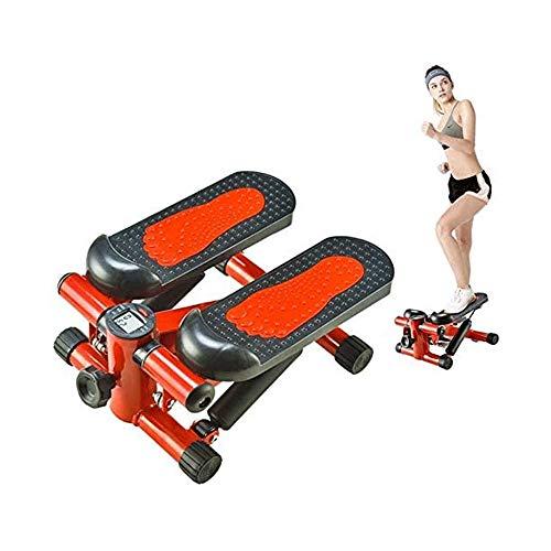 YIBOKANG Esercitazione Stepper per Home Stepper Esercizio Cross Trainer in-situ Indoor Mini Domestic Silent Cuscinetto 100kg (Color : Rosso)