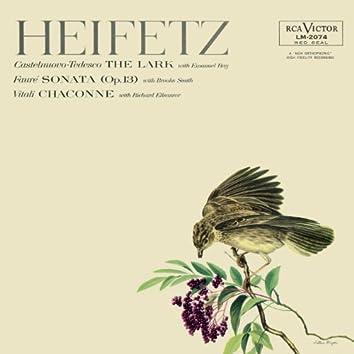 Vitali: Chaconne in G Minor - Tedesco: The Lark - Fauré: Sonata No. 1, Op. 13, in A