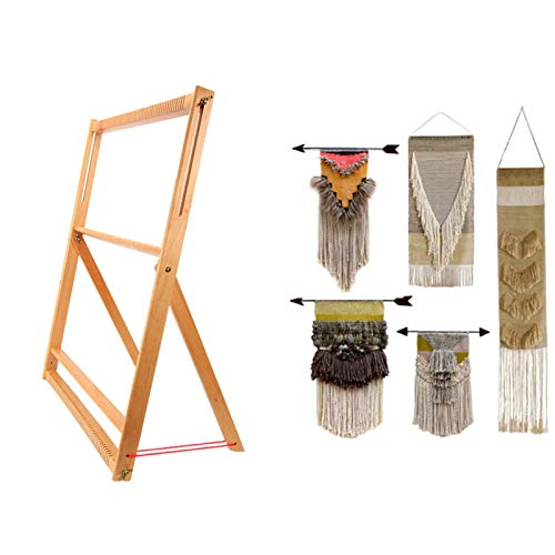 Weaving Loom with Stand Wooden Multi-Craft Weaving Loom Arts & Crafts - Extra-Large Frame