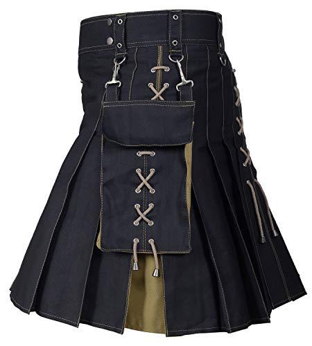 Hybrid Kilt Black/Khaki 40'