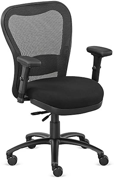 Black Fabric Big And Tall Mesh Chair NBF Signature Series Performa Collection