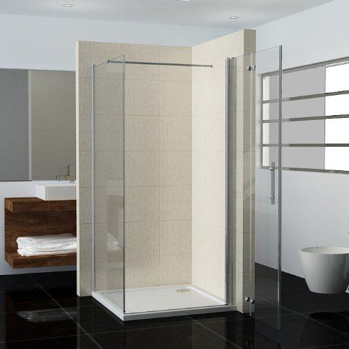 120 x 70 x 195 cm mampara de ducha cabina de ducha guardapolvo para puerta plana puerta cristal con pared lateral: Amazon.es: Hogar
