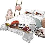 Conjuntos de Ropa de Cama de 3 Piezas Ropa de Cama Personalizada para jóvenes de tamaño Completo Equipo Deportivo Variado Lavable a máquina