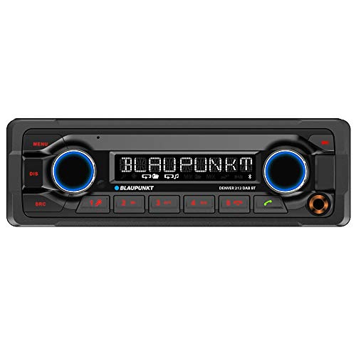 Blaupunkt DENVER 212 DAB BT 'Heavy Duty' Autoradio 12V | 1DIN | DAB+ | Bluetooth Freisprechen & Audio | USB | AUX | Anschluss Lenkradfernbedienung | IR-Fernbedienung | 4x 50W max.